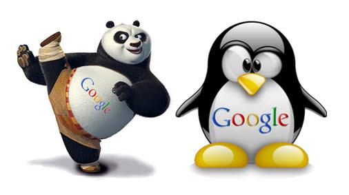 panda pinguino google